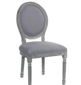 "Melrose International Gray Chair (Set of 2) 20""x38""H Wood"