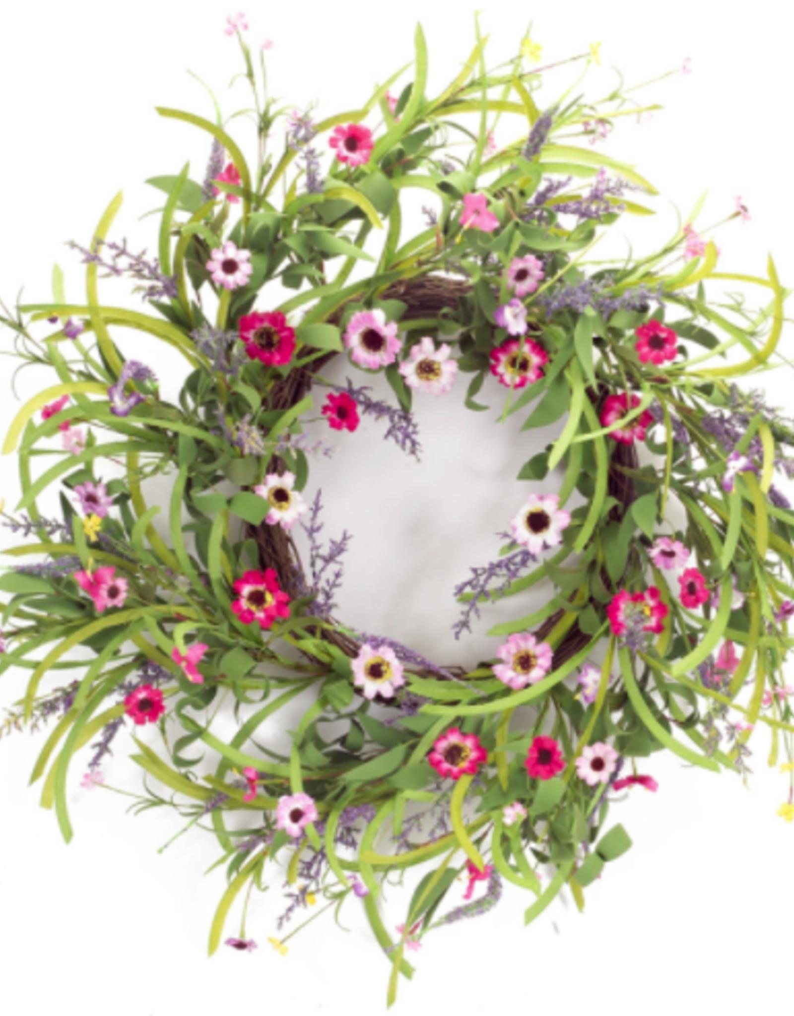 "Melrose International Wild Flower Bloom Wreath 32""D Paper/Foam"