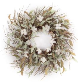 "Melrose International Cotton/Leaf Wreath 28""D EVA"