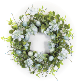 "Melrose International Egg/Floral Wreath 22""D Foam"