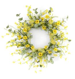 "Melrose International Mini Floral Wreath 20""D Polyester/Plastic"
