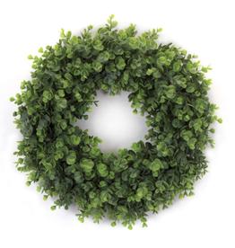 "Melrose International Eucalyptus Wreath 18""D Plastic"