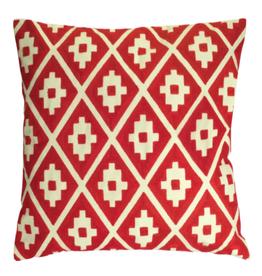"Melrose International Pillow (Set of 2) 17.5"" Polyester Red"