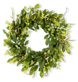 "Melrose International Mixed Foliage Wreath 30""D Fabric"