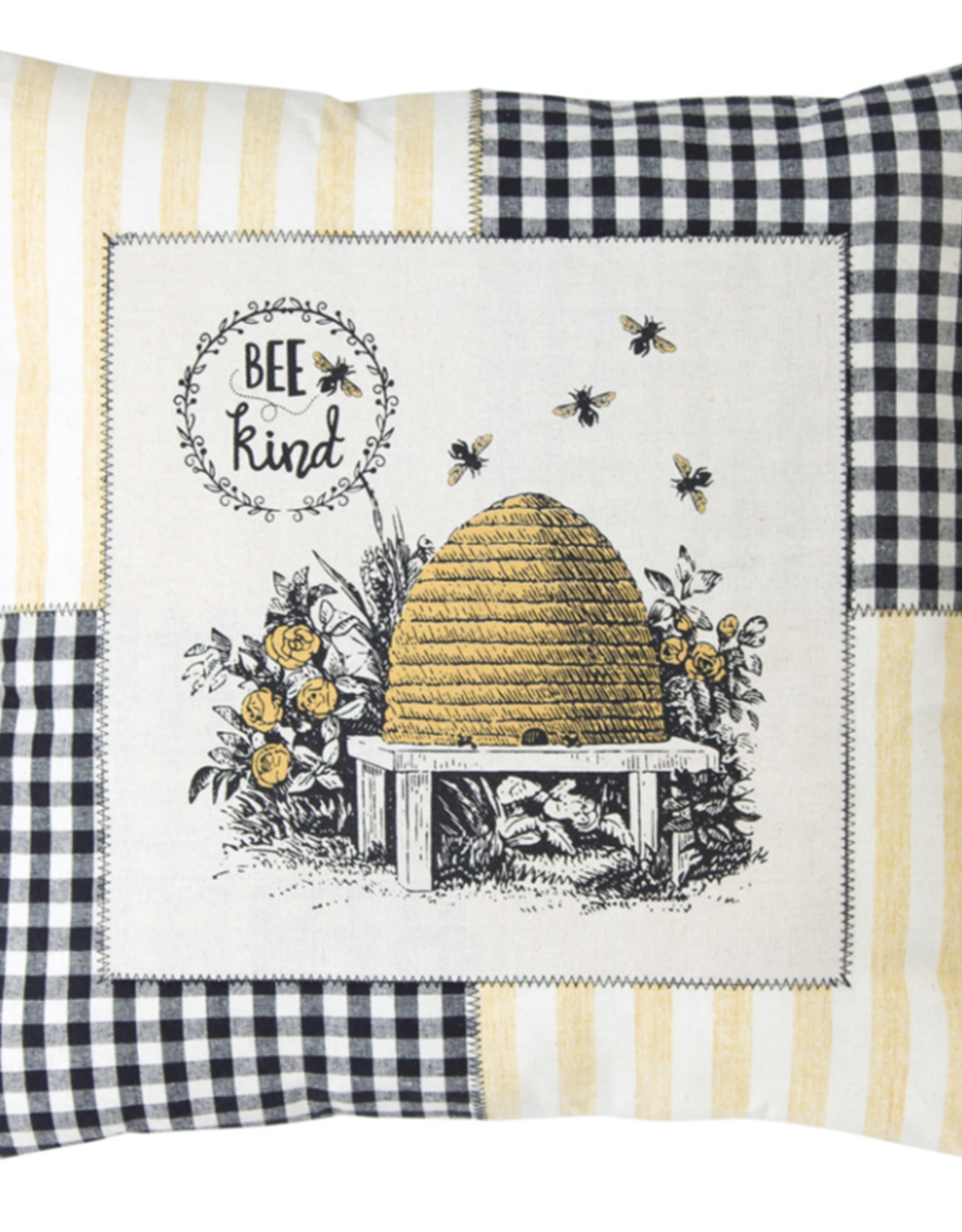 "Melrose International Bee Pillow (Set of 2) 18"" Polyester"