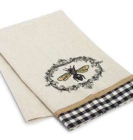 "Melrose International Bee Tea Towel (Set of 6) 27.25"" x 17"" Polyester"
