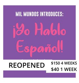 LIMITED One Class August 4 - K-5 Spanish Intensive Course