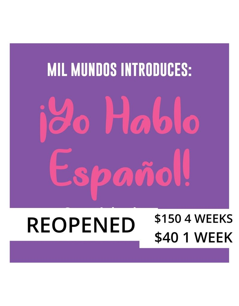 Copy of LIMITED 4 week - K-5 Spanish Intensive Course: July 14th - August 4th