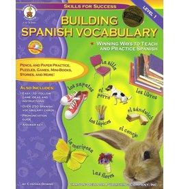 Carson Dellosa Building Spanish Vocabulary Resource Book Grade PK-12 Paperback