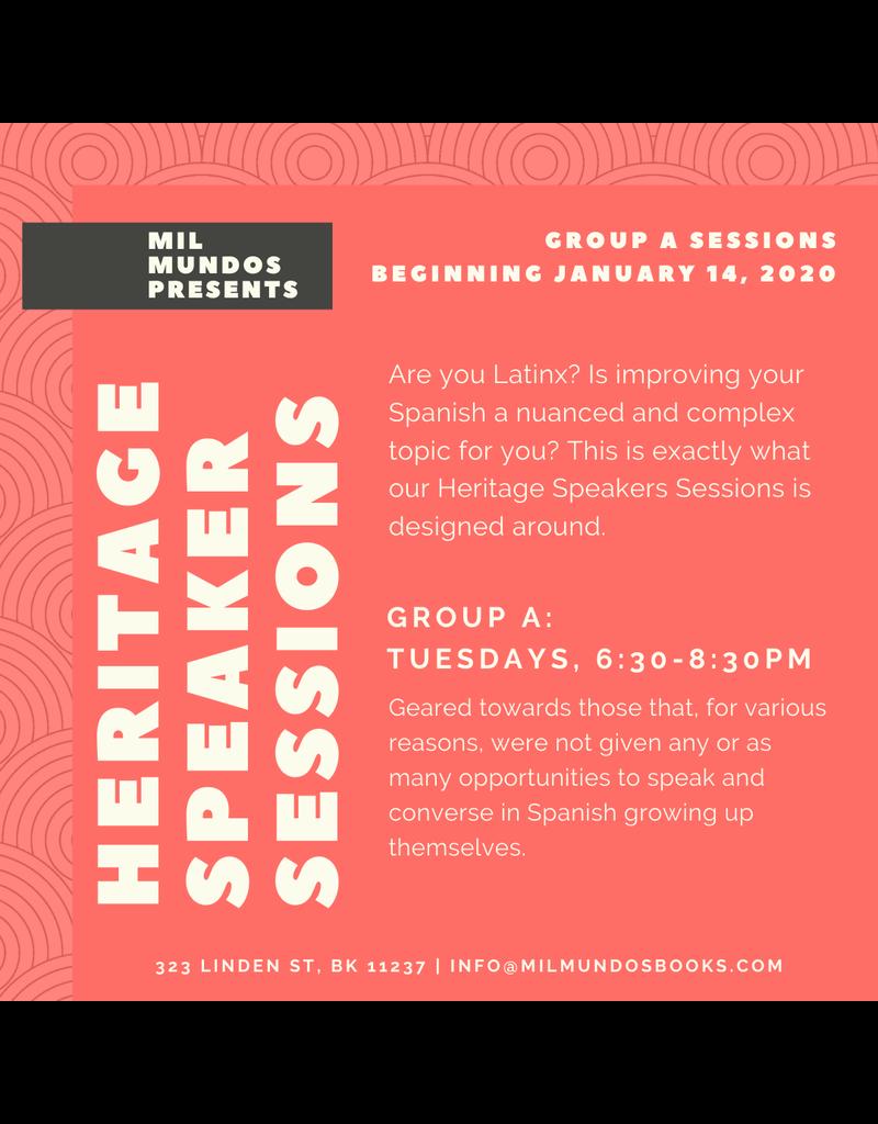 Six Week Heritage Speakers Sessions: Group A, Jan-Feb 2020