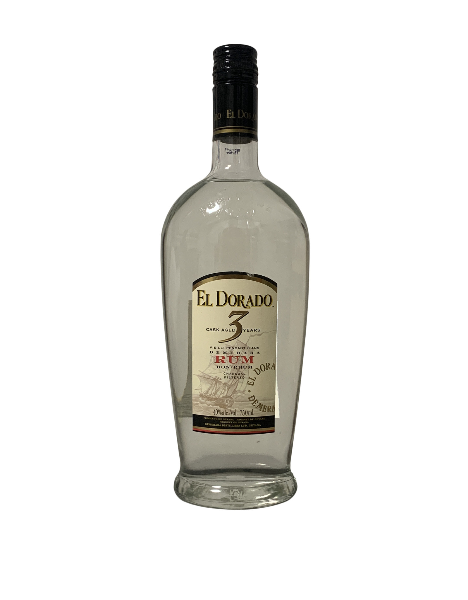 El Dorado El Dorado 3 Year Old Cask Aged Demerara Rum 80 Proof, Guyana (750mL)