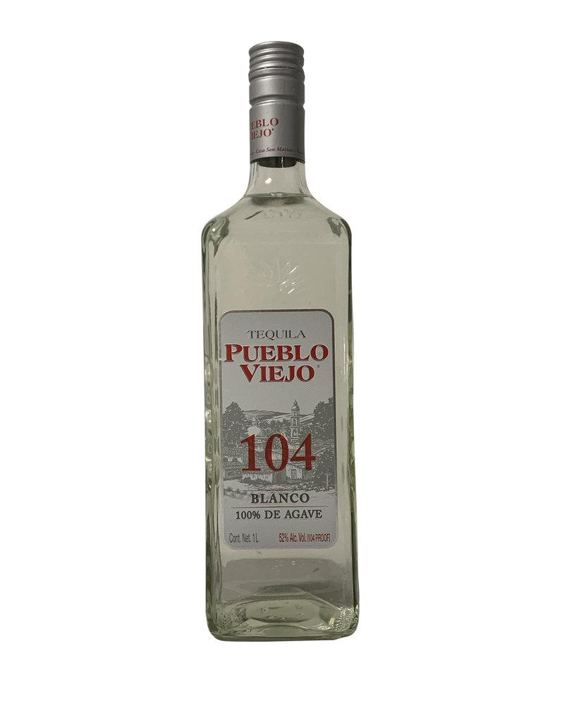 Pueblo Viejo Pueblo Viejo Blanco Tequila 104 Proof, Jalisco, Mexico (1000mL)