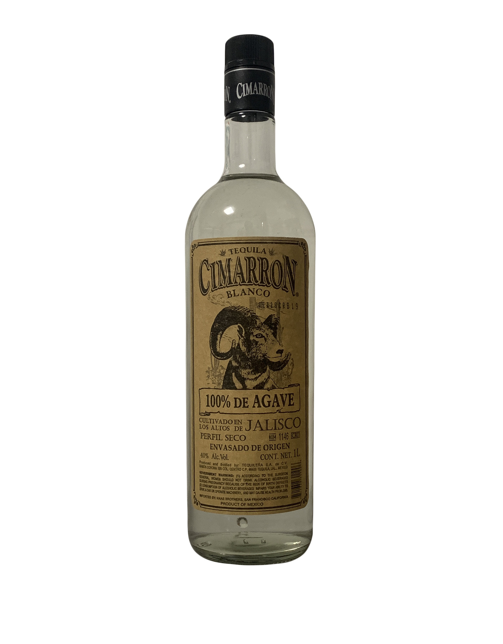 Cimarrón Cimarron Tequila Blanco, Mexico (1000mL)