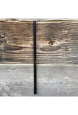 Straw Hut Co. Straw Hut Stainless Steel Black Straight Smoothie Size 9mm