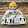 Mua Mua Dolls Knit Beanie Hat Annetto - Grey