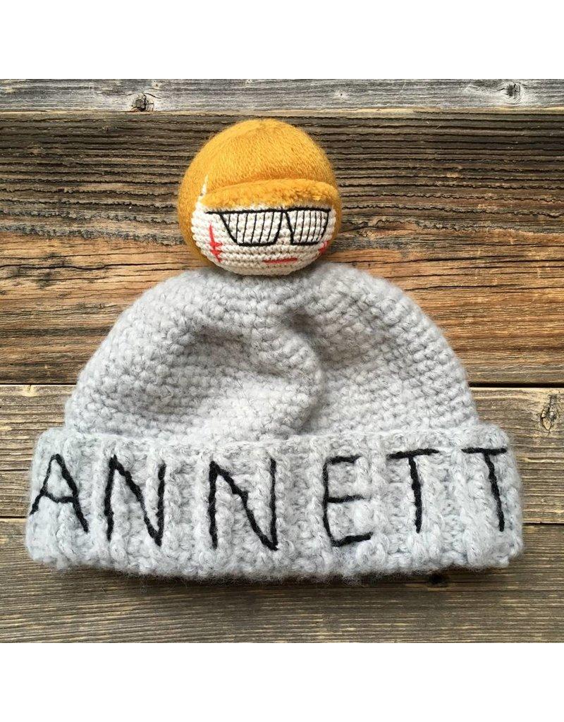 Mua Mua Dolls Mua Mua Dolls Knit Beanie Hat Annetto - Grey