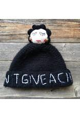 Mua Mua Dolls Mua Mua Dolls Knit Beanie Hat I Don't Give a Chic - Grey