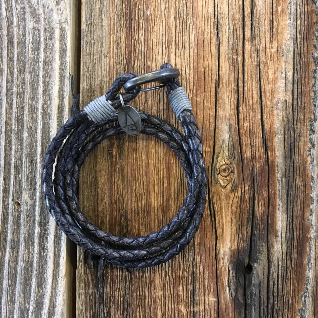 Gnome & Bow Ralph Braided Antique Leather Bracelet