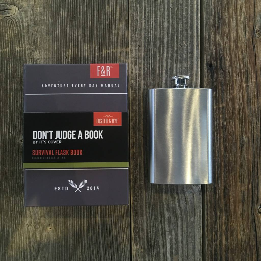 Foster & Rye Survival Book 5 oz Sneaky Flask