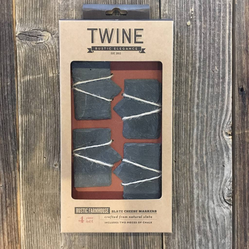 Twine Rustic Farmhouse Slate Cheese Markers