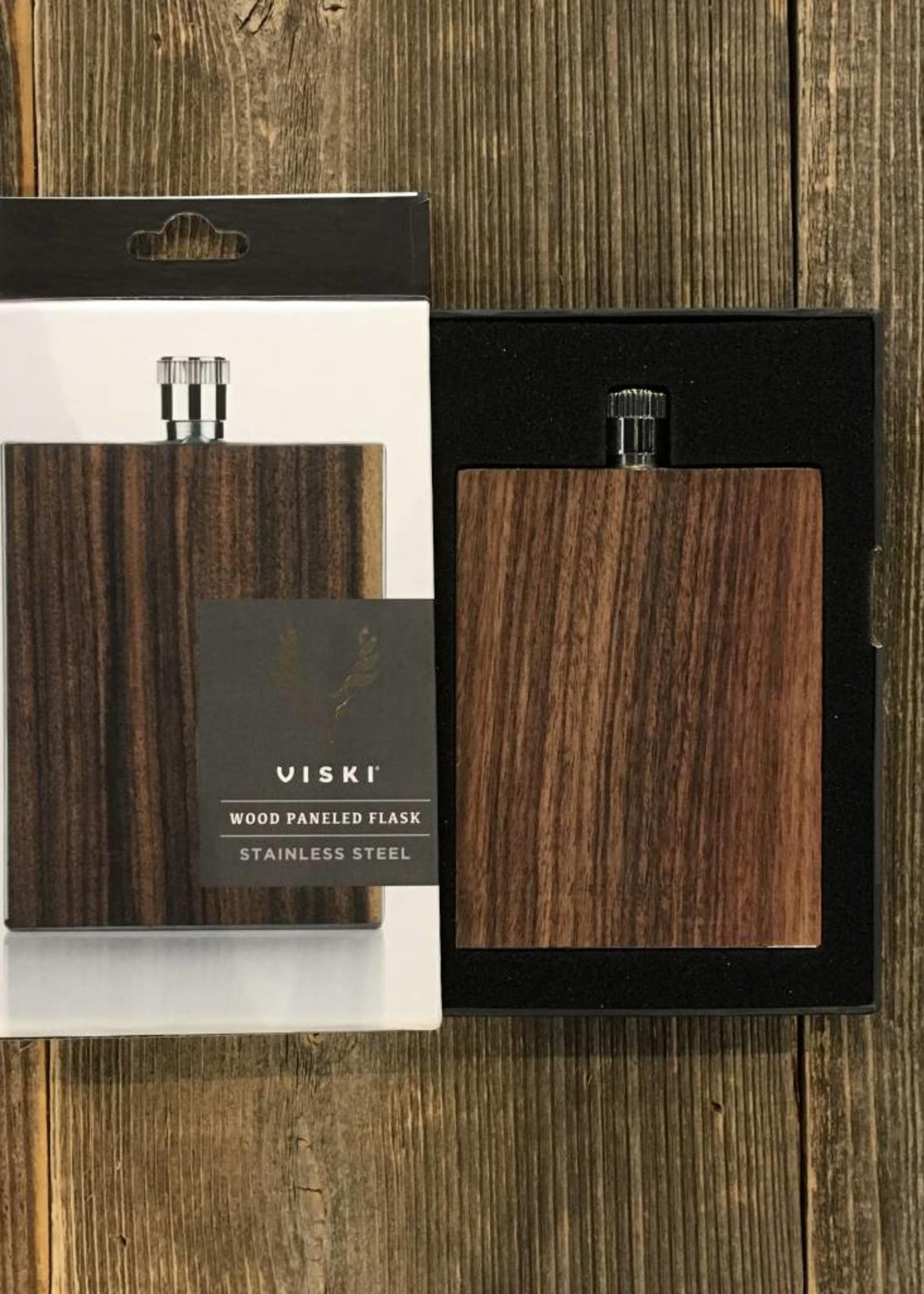 Viski Viski Admiral Wood Paneled Flask