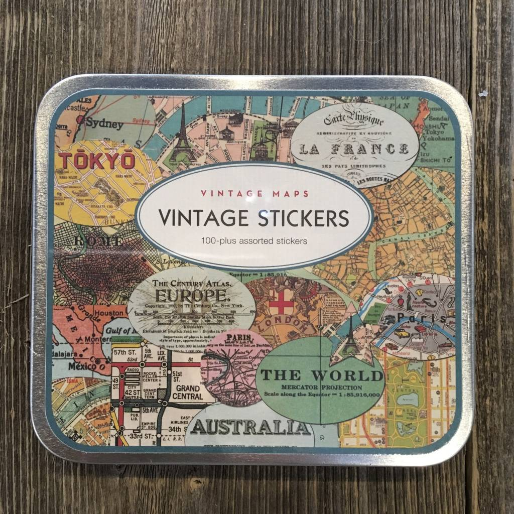 Cavallini Maps Stickers