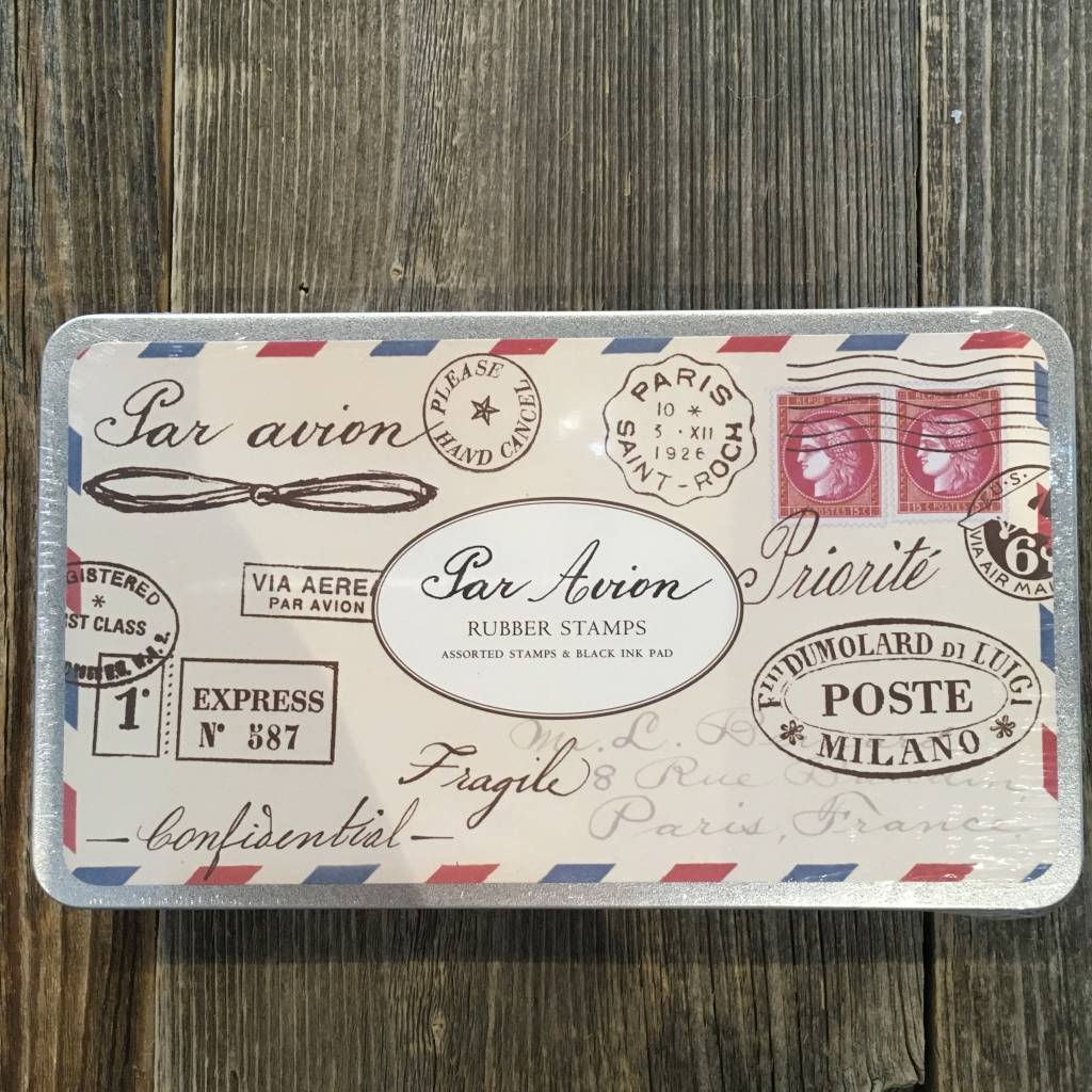 Cavallini Large Rubber Stamp Set