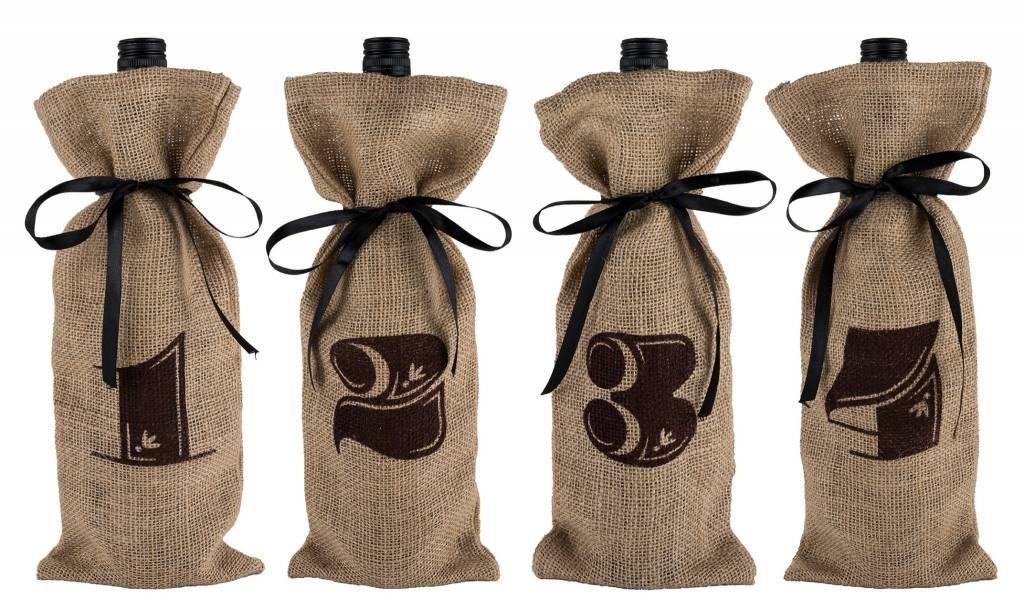 Twine Marketplace - Jute Bag Wine Tasting Kit