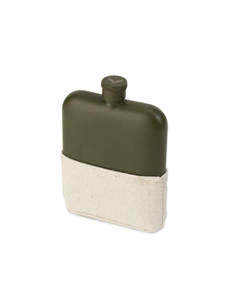 Foster & Rye Foster & Rye Matte Army Green Flask