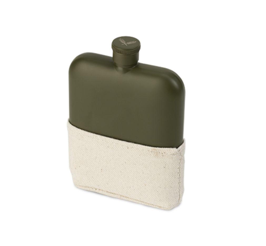 Foster & Rye Matte Army Green Flask