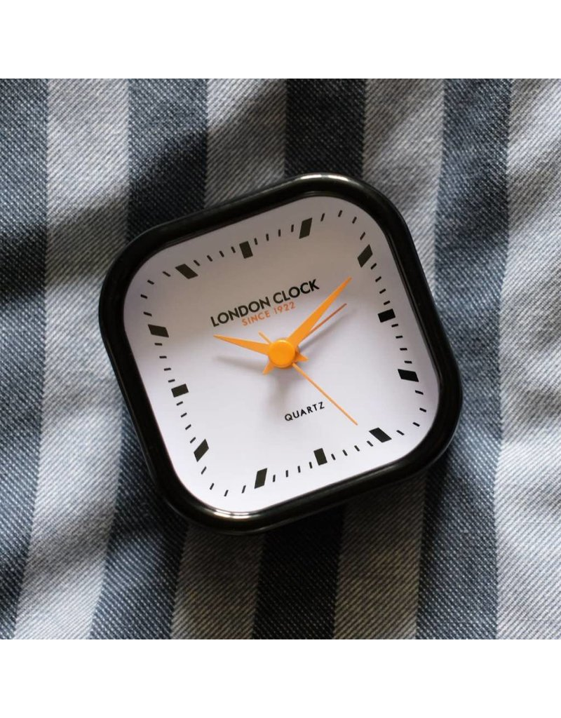 London Clock London Clock Bang Gloss Fin Black Case White/Black Marker