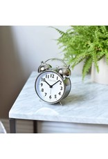 London Clock London Clock Brushed Chrome Twinbell Alarm