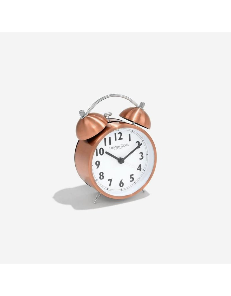 London Clock London Clock Copper Finish Twinbell Alarm