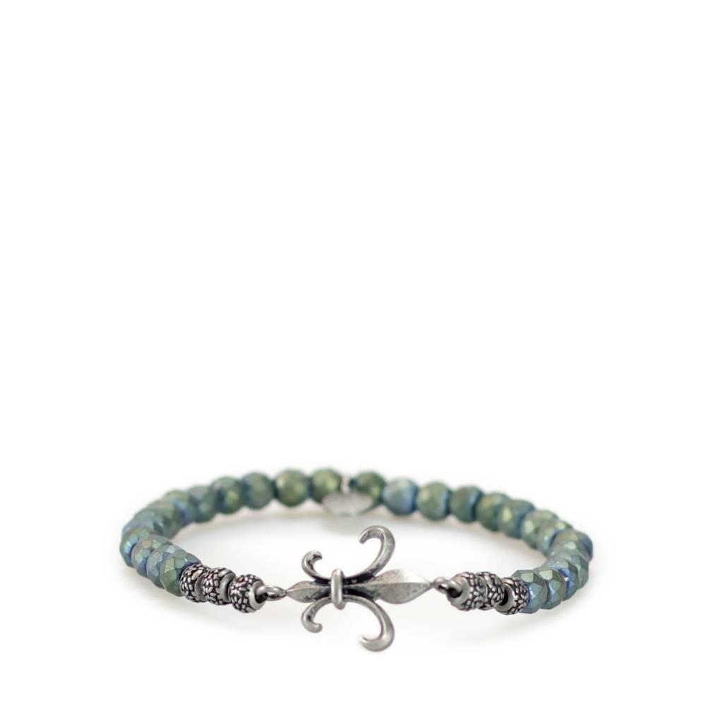 Gnome & Bow Fleur-de-lis Bracelet