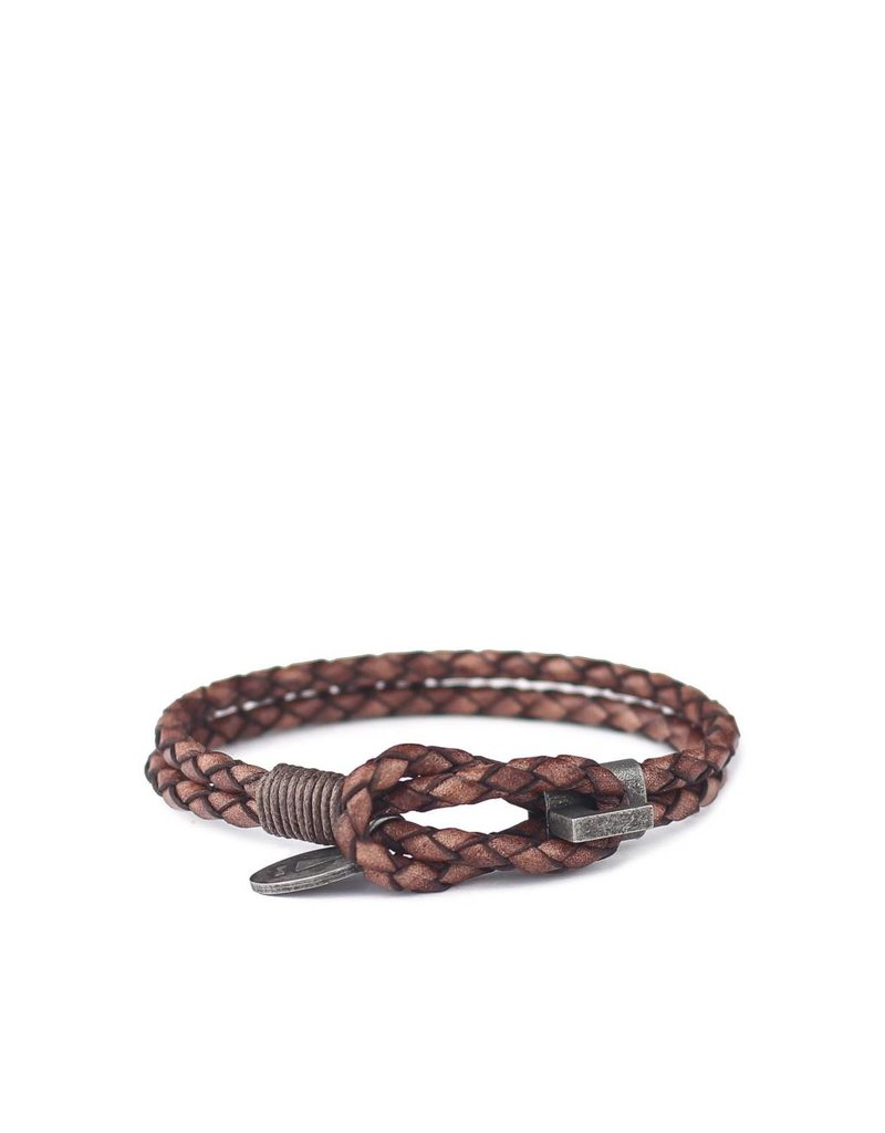 Gnome & Bow Gnome & Bow Smith Black Antique Braided Leather Bracelet