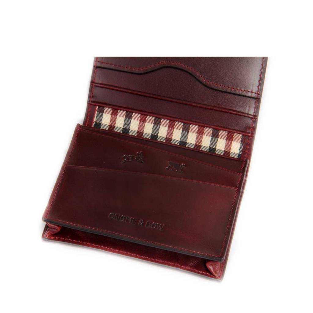 Gnome & Bow Birch Cardholder -  Oxblood