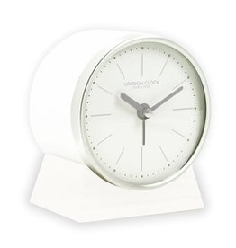 London Clock London Clock Oslo: White Resin Alarm