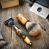 Rattlestick Ramsay Elder Burl with Turquoise Inlay Brush