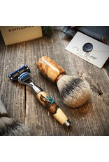 Rattlestick Rattlestick Ramsay Elder Burl with Turquoise Inlay Brush