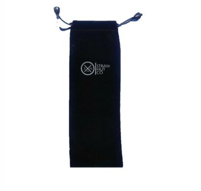 Straw Hut Black Bag