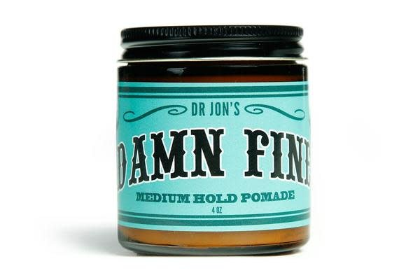 """Dr.Jon's """"Damn Fine"""" Medium Hold Vegan Pomade 4oz Jar"""