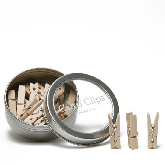 Cavallini Mini Wooden Clips In Tin