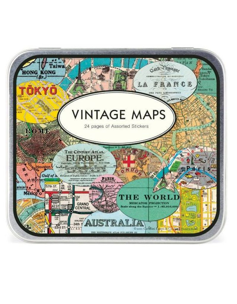 Cavallini Cavallini Maps Stickers