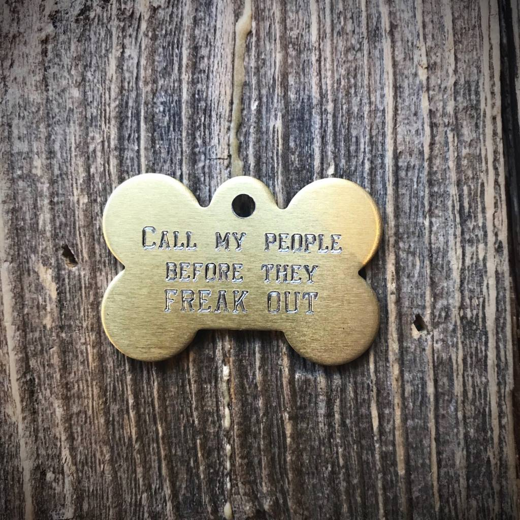 Premier Tags Dog Tags Gold