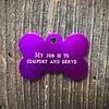 Premier Tags Dog Tags Purple