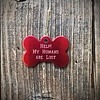 Premier Tags Dog Tags Red