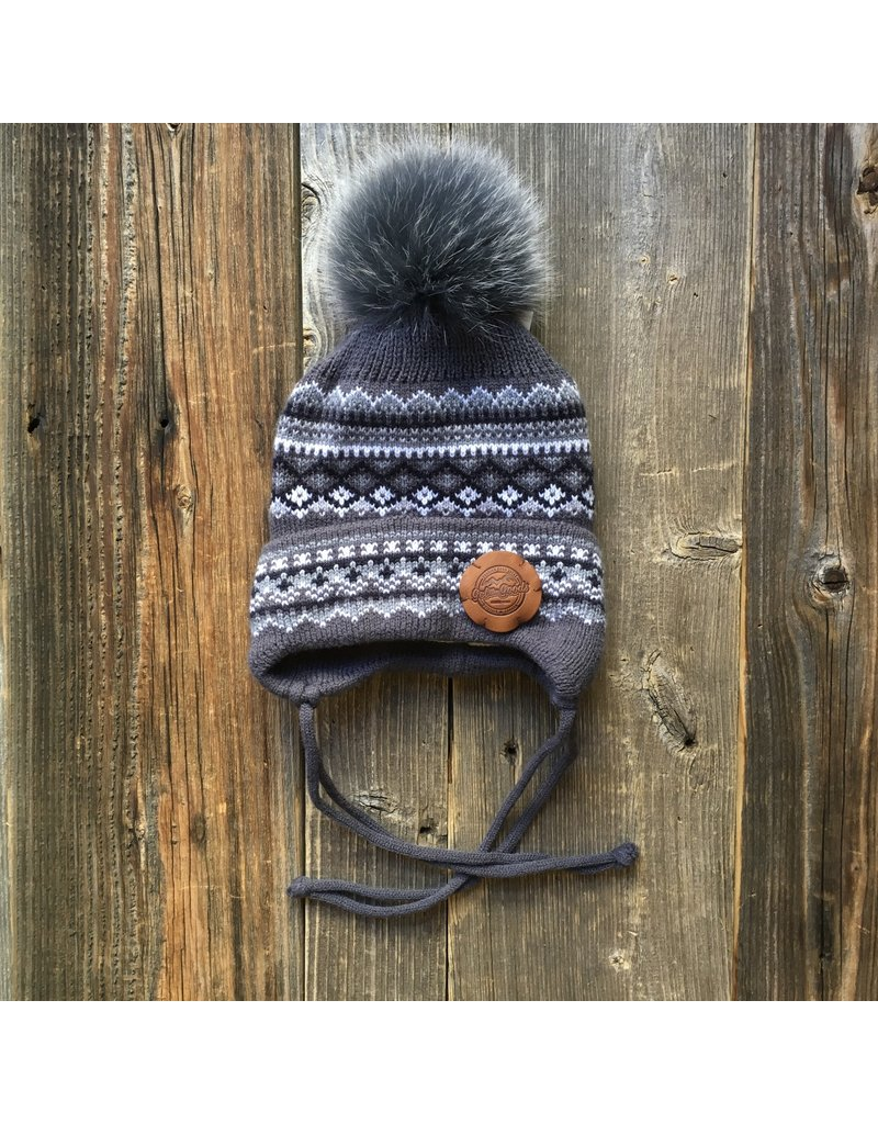 Get the Goods Get the Goods Kids Knit Hat with Fur Pom Alpine