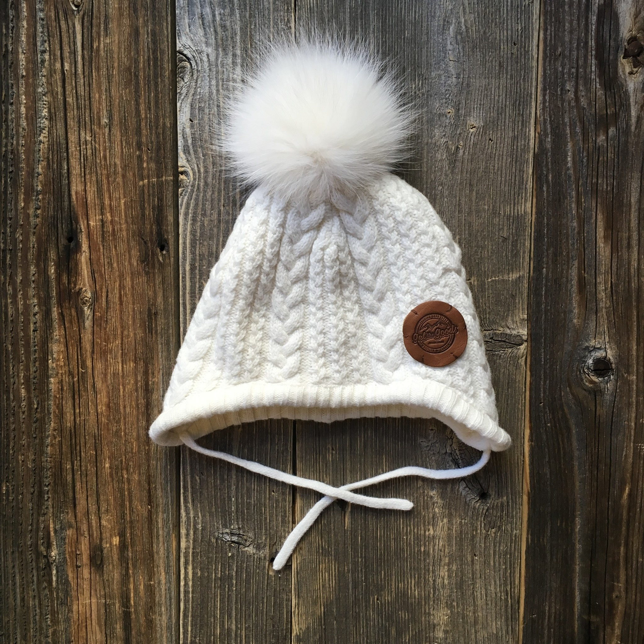 Get the Goods Kids Knit Hat with Fur Pom