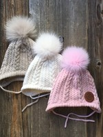 Get the Goods Get the Goods Kids Knit Hat with Fur Pom