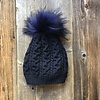 Get the Goods Cashmere Knit Hat with Fur Pom
